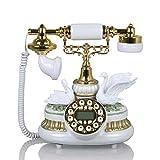 SXRDZ Teléfono Fijo de Estilo Europeo Casa Teléfono Fijo Retro Antiguo Adornos anticuados (21cmx25cmx26cm)