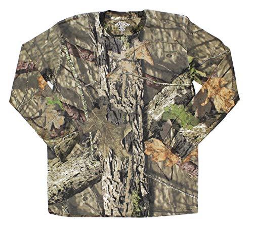 Mossy Oak Long Sleeve Henley Camo Shirt Men, Tree Camo, X-Large