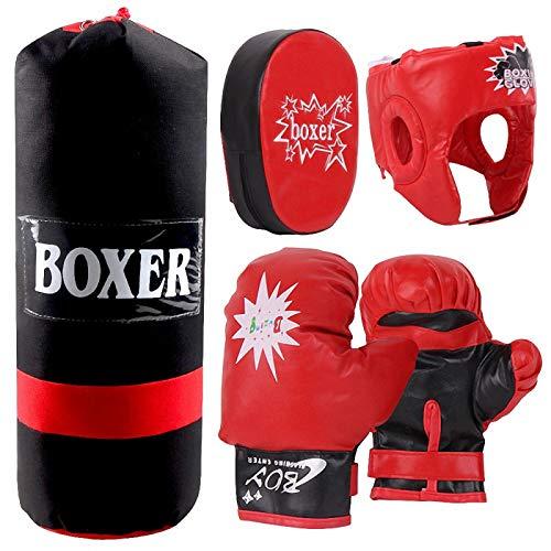 Kinder Boxhandschuhe Handziel Sandsack...