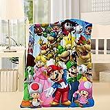 Super Mario Blended Blanket Woolen Blanket Mixed Woolen Blanket Throw 40X50inch