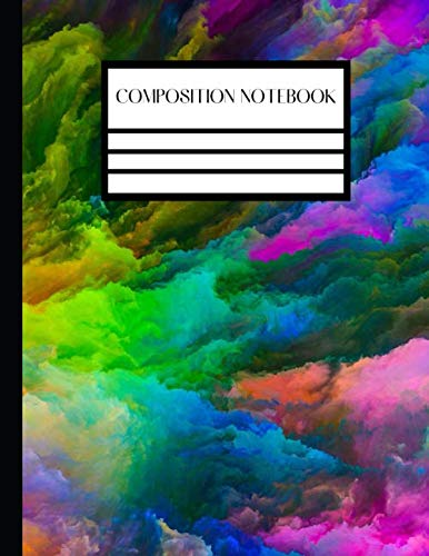 Composition Notebook: Tye Dye College Ruled Lined 120 Pages - Large 8.5 x 11 Lined Paper Composition Notebook Tie Dye For Home School Students ... Pretty Gift For Birthday and Christmas