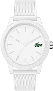Lacoste Men's TR90 Quartz Watch with Rubber Strap, White, 20 (Model: 2010984)