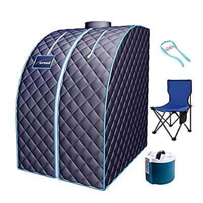 TOREAD Portable Folding Steam Sauna with 3L steam Generator, Personal Sauna Tent for Relaxation, Weight Loss, Fast Heating in 6 Min, with Remote Control