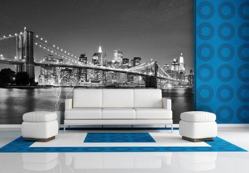 XXL-behang fotobehang Brooklyn Bridge II in verschillende maten - naar keuze als papier of vliesbehang