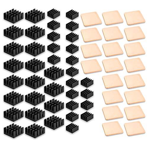 ANDERK 60 piezas Disipador de Calor heatsinks para Raspberry Pi 3 Model B, B+/ Pi 2 Model B