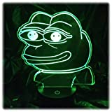 Such Wow! LED Peepo Meme Desk Table Bedroom Night Light Lamp - Touch/Remote Controlled, 16 Different Colors, 8.5' Inches