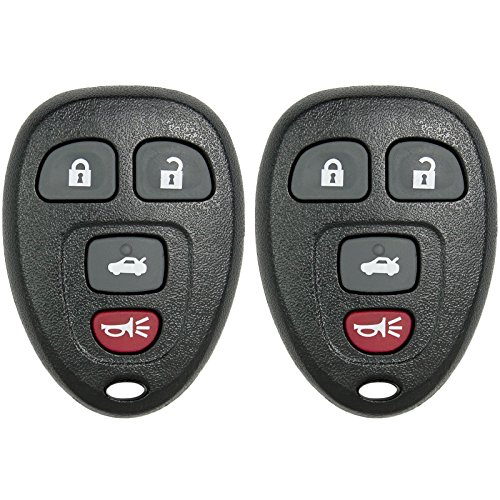 Keyless2Go New Keyless Entry Replacement Remote Car Key Fob for Select Malibu Cobalt Lacrosse Grand Prix G5 G6 Models That use 15252034 KOBGT04A Remote (2 Pack)