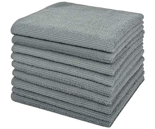 VIVOTE 9-Pack-Microfaser-Reinigungstücher Küchenlappen Mehrzweck Waschlappen Staubwischen 30 cm X 30 cm (Grau)