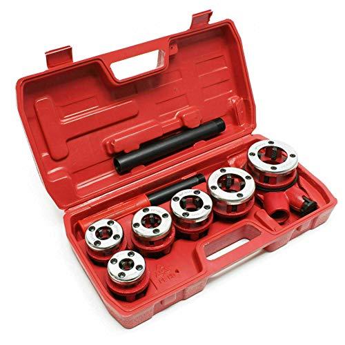 EN-227321 Filiera manuale a cricco 6 pezzi per filettatura tubi con cassetta