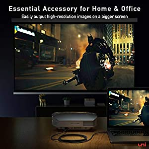 uni Cable USB C a HDMI, Cable USB Tipo C a HDMI (Compatible con Thunderbolt 3) hasta 4K, Compatible con iPad Pro 2018, MacBook, Samsung S20, Surface Pro 7, Huawei p40, Mate 30 y más - 3m