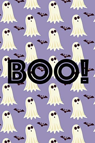 Boo!: Halloween Gift Idea for Kids, 6x9 lined blank notebook journal, 150  wide ruled pages, Halloween activity book, trick or treat party favor, boo basket gift exchange