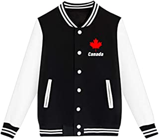 WFIRE Baseball Jacket Canada Maple Leaf Custom Fleece Varsity Uniform Jackets Coats for Youth