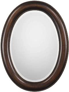 "Spinner Oakes Dark Bronze Oval Mirror | Oval Wall Mirror in Dark Bronze Finish (22"" W x 29"" H Oval Mirror)"