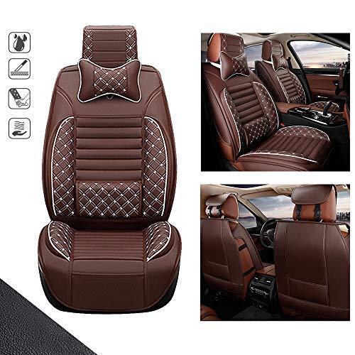 huitelai Fundas de asiento de coche para Mazda CX-3 CX-5 CX-7 5 asientos de cuero sintético imperme