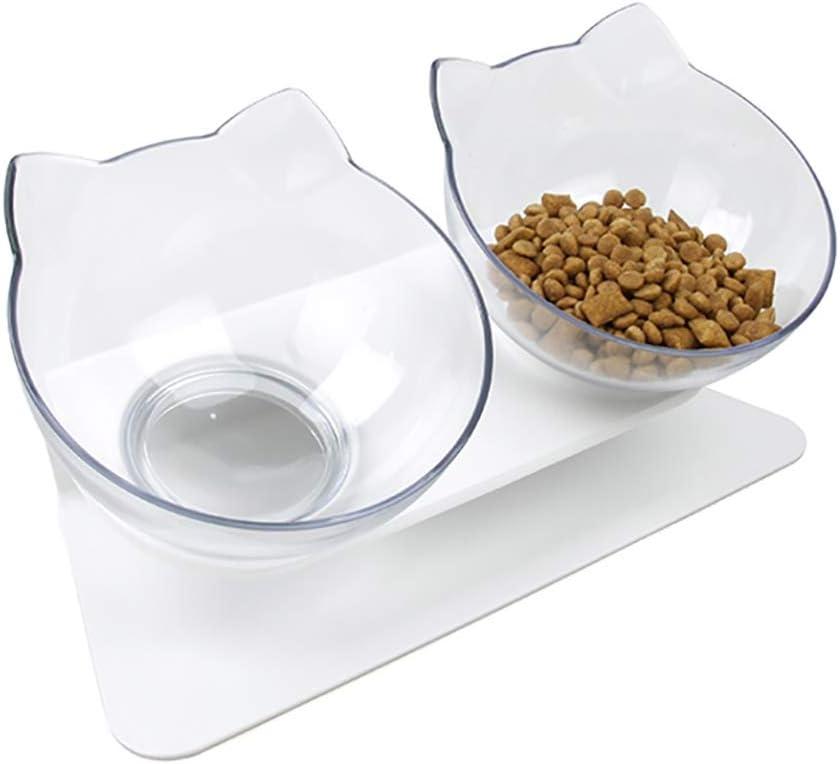 QIYADIN Tilted New color Raised Posture Cat Neck Anti Food Bowl mart Protection