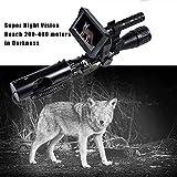 Z&HA Grabador De Alcance De La Visión Nocturna Digital para La Caza De Rifle con La Función De La Función WiFi Foto O Video,M2 Battery + 32gb