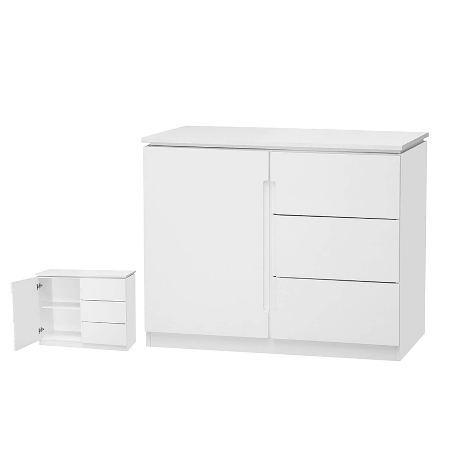 Orb White Small TV Cabinet