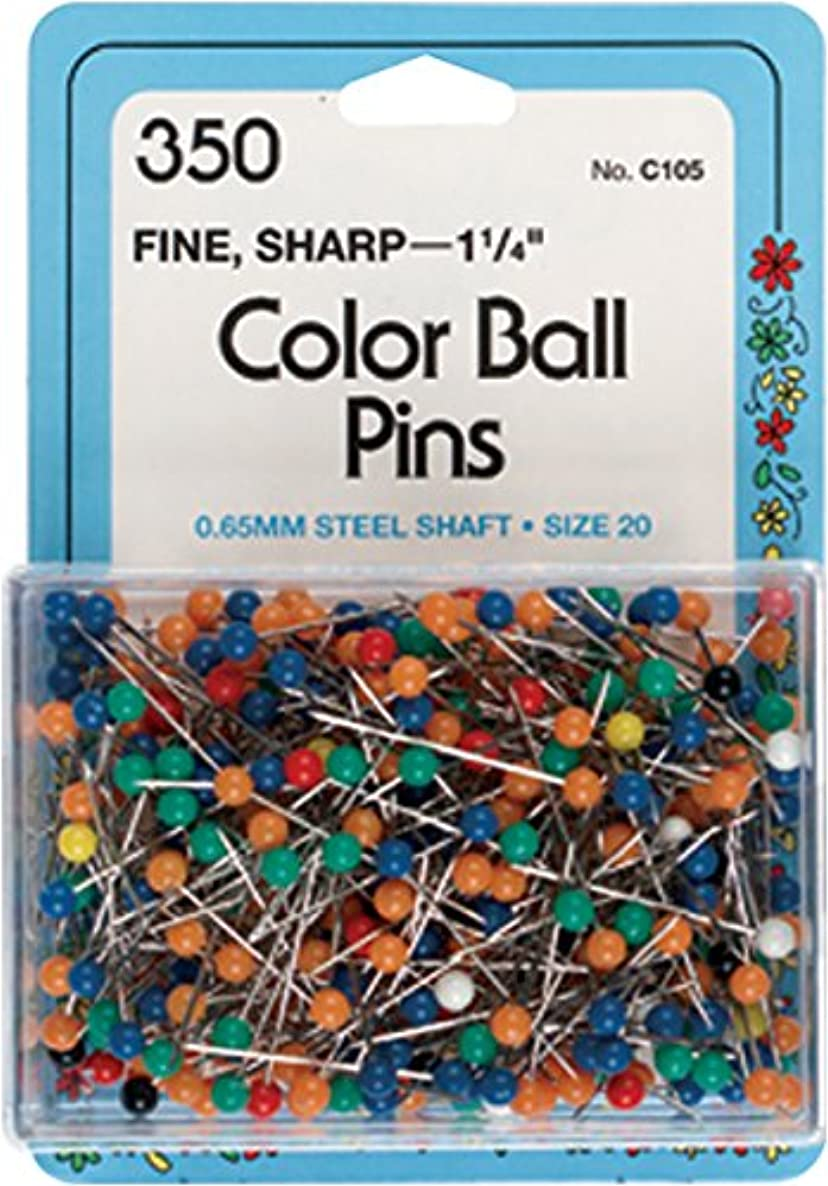 Collins COL105 350 Piece Color Ball Pins, 1.25