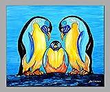 mlpnko DIY Pintar por números pingüino Pintar por Numeros para Adultos Patrón De Kit de Pintura al óleo para Bricolaje con Pinceles y Pinturas
