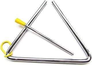 1x toruiwa niños juguete Musical instrumento de percusión de Aleación de triángulos de cabra Metal escuela niños educació...