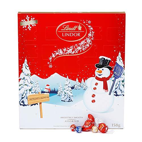 リンツ (Lindt) チョコレート アドベントカレンダー スノーマン ショッピングバッグL3付