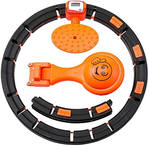 Olz Smart Hula Hoop, aro Giratorio automático Ajustable Adelgazante Smart Counting Fitness Hoop, Cintura Ajustable, Interior Fitness Mujer Adulta
