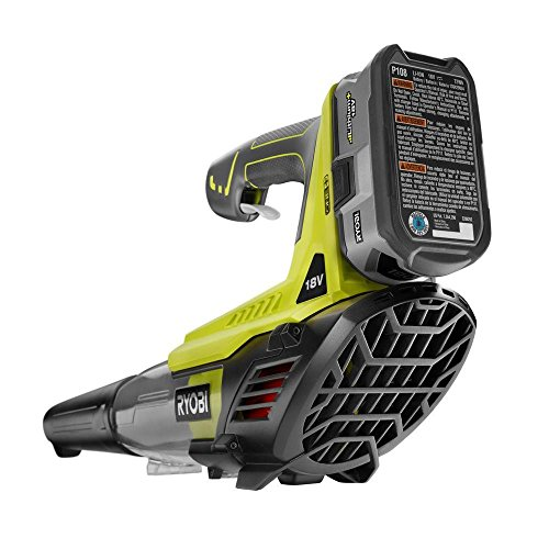 RYOBI ONE+ 100 MPH 280 CFM Variable-Speed 18-Volt Lithium-Ion Cordless Jet Fan Leaf Blower 4Ah Battery and Charger Included