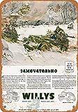 Willys Army Jeeps Blech Blechschild Warnschild Schilder