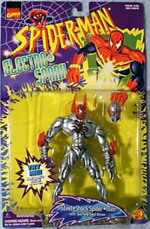 marca famosa STEEL-SHOCK SPIDER-MAN  Sparking Chest Acción  1997 Spider-Man Spider-Man Spider-Man Electro-Spark Series Acción Figura by Spider-Man  bienvenido a orden