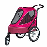 PETIQUE All Terrain Jogger-Blazin' Berry Pet Stroller, Blazin' Berry, One Size