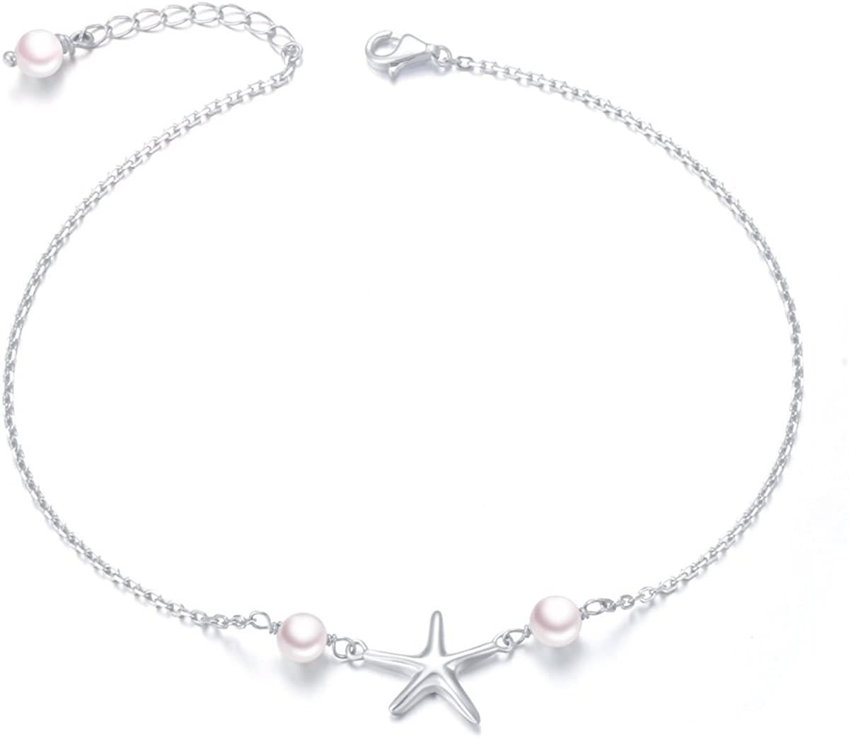 famous Anklet for Women San Diego Mall S925 Sterling Brac Foot Adjustable Ankle Silver