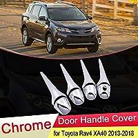 ESUHUANG トヨタRAV4 XA40 2013 2014 2015 2016 2017 2018豪華なクロームドアハンドルカバーキャッチトリムセットカーアクセサリーキャップRAV 4の場合 (Color Name : Bowl 4 Door)