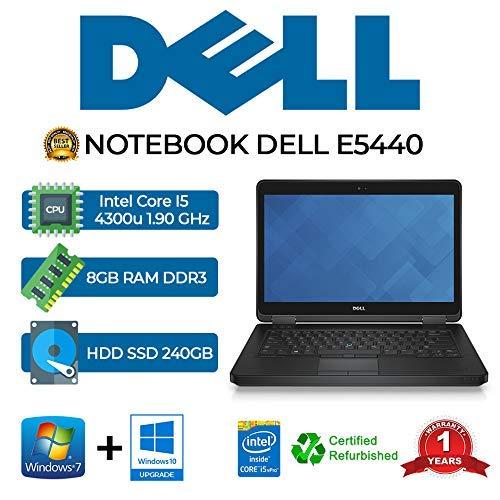 notebook dell ricondizionato NOTEBOOK DELL 5440 INTEL I5 4300U/8GB/240GB SSD/DVD/WIN 10 PRO (Ricondizionato)