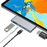 USB C ハブ iPad Pro対応 USB Type-C ハブ タイプC 4K HDMI 出力 PD 充電対応 USB3.0 ハブ 3.5mm ヘッドホンジャック マイクロ Type-c hub 4in1 HDMI 変換 アダプタ Macbook Macbook pro/SAMSUNG/Huawei Mate等対応