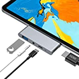 Foto Hub USB C, adattatore 4 in 1 Tipo C con HDMI 4K, USB 3.0, jack audio da 3,5 mm, Alimentazione USB C, compatibile con IPad pro 2018 11/13, Macbook/Macbook Pro, DELL XPS, SAMSUNG S8/Note8 e Di Più