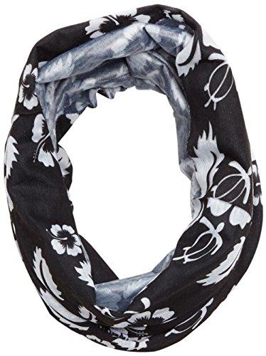 Black Crevice Erwachsene Multifunktionstuch, schwarz/weißen Blumen, One size, BCR227005-3