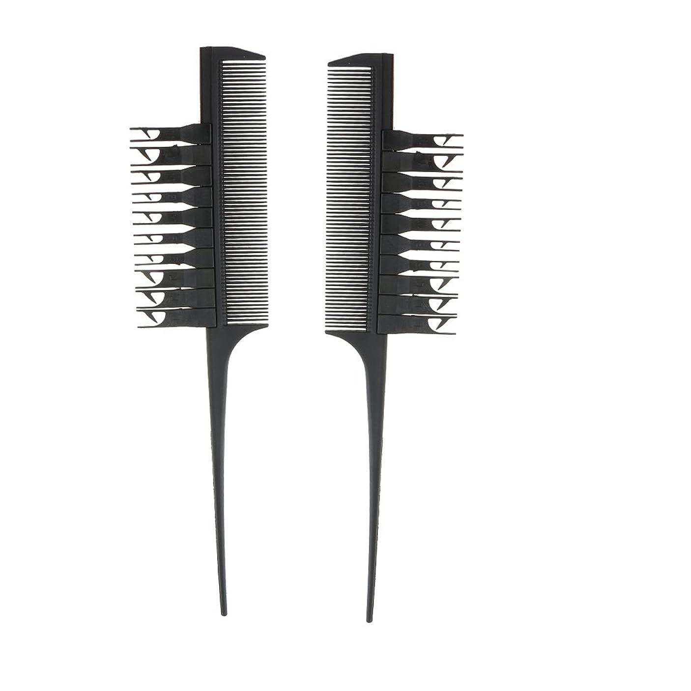 表示練習した上げるBlesiya 2個入り 実用 高品質 ヘアダイブラシ ヘアカラーリング コーム 櫛(ブラック)