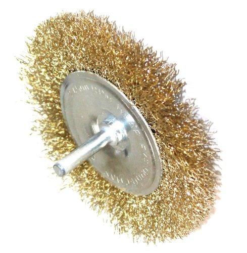 Aerzetix borstel 10 cm van metaal staal gegolfd voor boormachine