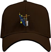 Custom Baseball Hat Lineman Occupation A Embroidery Business Name Structured Cap
