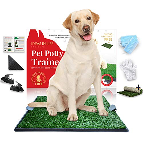 Deluxe Dog Grass Potty Pad with Tray Large Size 20
