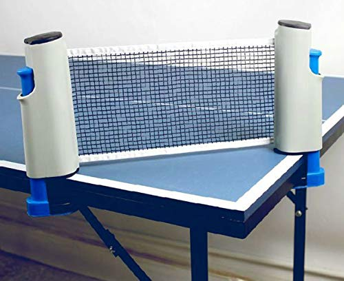 Cima Innovative Retractable Table-Tennis Net with Adjustable Length and Push Clamps Portable and Fits Most Tables (Medium, Multicolour)