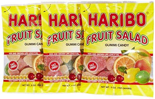Haribo Gummi Fruit Salad 5 oz  3 packs