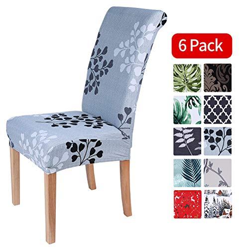 Homaxy Universal Stretch Stuhlhussen 2er 4er 6er Set Stuhlbezug für Stuhl Esszimmer (6er Set, Style 12)
