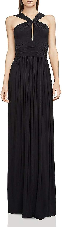 BCBG Max Azria Womens Carly Jersey Draped Maxi Dress
