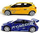 OPO 10 - Lot de 2 Voitures 1/43 Renault Clio RS + Megane Trophy