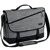 Messenger Bag for Men,VASCHY Fashion Water Resistant Laptop Satchel Crossbody Shoulder Side Bag Briefcase for Men and Women for Work,School,Business Gray