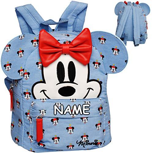 alles-meine.de GmbH 3D Effekt _ Kleiner - Kinder Rucksack - Disney - Minnie Mouse - inkl. Name - Tasche - wasserfest & beschichtet - Kinderrucksack / groß Kind - Mädchen - z.B. f..