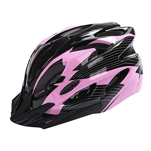 Huai1988 Herren / Damen Fahrradhelm für Erwachsene, mattschwarz, verstellbar, für Skateboard-Schutz, Outdoor-Mountainbike-Helm, Unisex, Schwarz und Rosa, ons size
