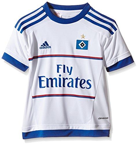 adidas Jungen Kurzarm Heimtrikot Hamburger SV Replica, White/HSV Blue, 164