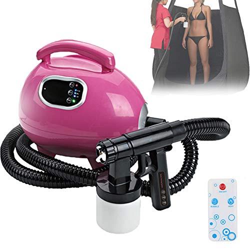 EFGSbed Spray Maschine mit Gratis Solutions, Sunless Tanning Machine mit HVLP Spritzpistole für Bronze Skin Sunless Spray Tanning Solution Airbrush-Maschine
